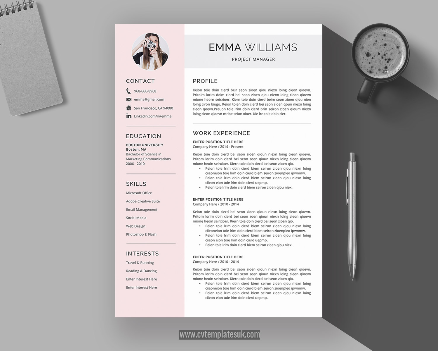 Creative Resume Template Cover Letter 2020 Professional Resume Template for Word Instant Download Modern Resume 1-3 Page CV Template