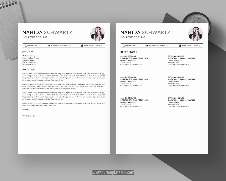 Editable CV Template UK, Resume Template UK, MS Word CV Format, Modern and  Professional Resume Design, Cover Letter, References, Simple Resume Format,  ...