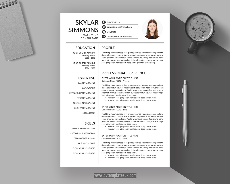 Simple Curriculum Vitae Format from www.cvtemplatesuk.com